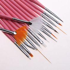 15 pz/lotto Rosa Nail Art Vernice Dot Pen Brush Set Strumenti Decorazioni Manicure Lady Regalo Del Partito