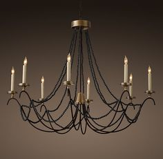 "18th C. Italian Bead Chandelier 45"" $824"