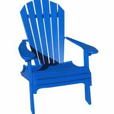 "Transform your patio into a stylish oasis with this folding Adirondack chair, perfect for sunny afternoon enjoyment or evening get-togethers with friends.     Product: Adirondak chair    Construction Material: Recycled poly-resin and stainless steel    Color: Marina blue     Features:   Folds completely for easy storage   Chair back and seat contoured for maximum comfort   Arm restsThree back braces for strong support   Made in the USA       Dimensions: 37"" H x 30"" W x 35"" D     Assembly…"