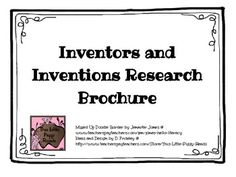 Inventor and Invention Research Brochure with a Completed Example Brochure and a Rubric for Grading. It does include a research page with questio. Teacher Created Resources, Science Resources, Science Lessons, Teaching Resources, Teaching History, Science Ideas, Teaching Ideas, 4th Grade Science, Middle School Science
