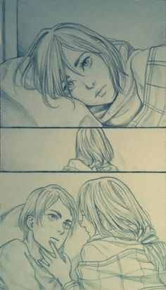 Eremika | Eren | Mikasa Attack On Titan Ships, Attack On Titan Fanart, Attack On Titan Eren, Eren And Mikasa, Armin, Naruhina Comics, Rivamika, Eremika, Anime Couples Drawings