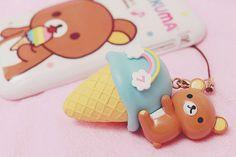 Rilakkuma ice cream phone strap #rilakkuma #kawaii