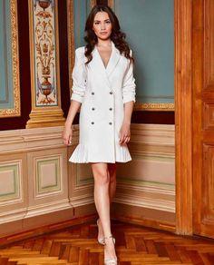 Rochie sacou dama eleganta BIANCA   Tiar Studio Romania
