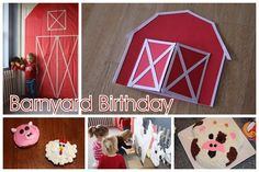 barnyard theme for bdays Farm Animal Party, Barnyard Party, Farm Party, Farm Birthday, Animal Birthday, 1st Birthday Parties, Second Birthday Ideas, Little Pigs, Childrens Party