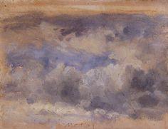 Eugène BOUDIN (1824-1898), Ciel tumultueux, ca. 1848-1853,huile sur papier, 10,5 x 14,5 cm. © MuMa Le Havre / Floria Kleinefenn