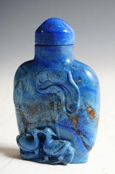 Chinese Lapis Perfume Bottle