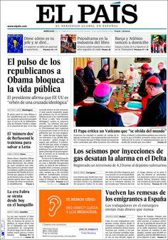 Los Titulares y Portadas de Noticias Destacadas Españolas del 2 de Octubre de 2013 del Diario El País ¿Que le pareció esta Portada de este Diario Español?