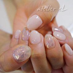 お客様ネイル♪ #nail#nailart#naildesign#gelnail#nailsalon#ネイルアート#nailel#神戸ネイル#atelierel#アトリエエル#ネイル#三宮ネイル#ジェルネイル#オーロラフィルム