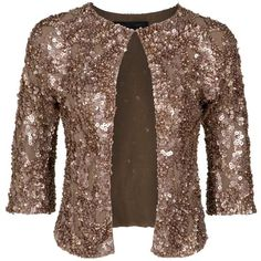 ELIE SAAB Sequin Embellished Bolero ($1,315) ❤ liked on Polyvore