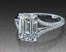 Emerald cut diamond solitaire platinum engagement ring with split shank by leon mege Dream ring! Platinum Engagement Rings, Engagement Ring Cuts, Solitaire Engagement, Solitaire Ring, Emerald Cut Diamonds, Diamond Cuts, Pink Diamonds, Diamond Bands, Organizer Box