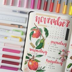 I've had a studygram for the past six months, but I'm new to this whole studyblr thing… I'm going to be uploading all of my bullet journal spreads from November last year to now. Bullet Journal Planner, Bullet Journal Notes, Bullet Journal Spread, Bullet Journal Ideas Pages, Bullet Journal Inspiration, Kalender Design, Bullet Art, Journal Layout, Study Notes