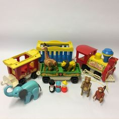 Vintage 1970's Fisher Price 991 Little People Play Family Circus Train Complete | eBay