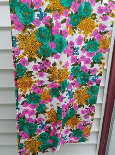 Mid Century Modern Floral Mod Pair of Curtains 20x40 Spring Blue Green Pink VTG | Home & Garden, Window Treatments & Hardware, Curtains, Drapes & Valances | eBay!
