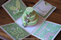explosion box card | Siccome avevo questa pattered paper rosa/verde beige horiprodotto i ...