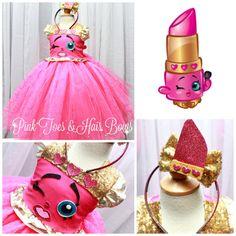 Shopkins tutu dress- shopkins costume- shopkins tutu-shopkins dress-shopkins birthday-shopkins party-lippy lips costume-lippy lips dress