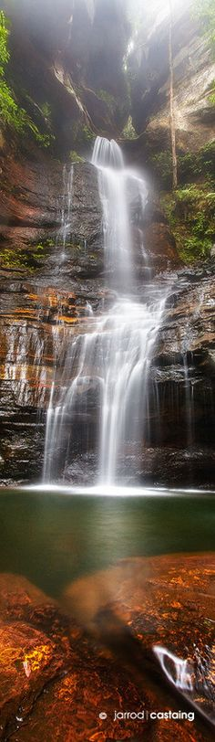 "Empress Falls, Valley of the Waters, Blue Mountains, New South Wales, Australia. ""Empress Falls"" by Jarrod Castaing Fine Art Photography Beautiful Waterfalls, Beautiful Landscapes, Places To See, Places To Travel, Places Around The World, Around The Worlds, Beautiful World, Beautiful Places, Amazing Nature"