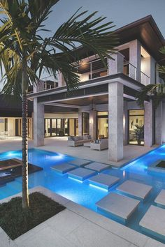 15 Relaxing and Dramatic Tropical Pool Designs I love the islands with trees, but not sure about dirt in pool? Source by hafizebetul The post 15 Relaxing and Dramatic Tropical Pool Designs appeared first on The Most Beautiful Shares. Design Exterior, Tropical Pool, Tropical Style, Modern Pools, Luxury Pools, Luxury Cars, Modern Mansion, Swimming Pool Designs, Cool Pools