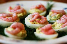 Яйца с креветками | Лучшие рецепты