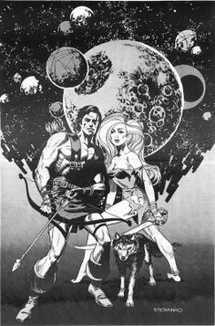 Cap'n's Comics: A Trio of Barbarians In Space by Jim Steranko