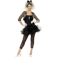 Buy Adult Wild Child Costume, available for Next Day Delivery. Get Into the Groove in our Adult Wild Child Costume!Outfit includes:JacketTopTutu SkirtLeggingsGlovesHeadbandWith Much Inspiration from Madonna's Look, our Adult Wild Child C . Costume Année 80, 80s Party Costumes, 80s Halloween Costumes, Madonna Costume, 80s Party Outfits, Fancy Dress Outfits, Costume Dress, Adult Halloween, Star Costume