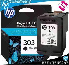 TINTA NEGRA 303 ORIGINAL PARA IMPRESORAS HP ENVY PHOTO CARTUCHO NEGRO T6N02AE Tinta Hp, Black Ink Cartridge, Hewlett Packard, Ebay, The Originals, Printers, Black People