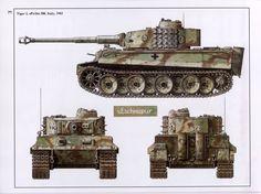 German Tiger 1, Italy 1943