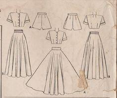 McCall 7218 / Vintage 40s Sewing Pattern / Playsuit Romper /