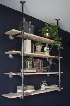 DIY industrial pipe shelves (4)