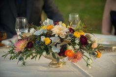 Rustic Autumn navy and burgundy/orange coloured wedding