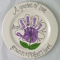 handprint plate - Google Search
