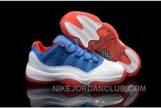 "http://www.nikejordanclub.com/air-jordans-11-low-knicks-white-blue-red-shoes-for-sale.html AIR JORDANS 11 LOW ""KNICKS"" WHITE BLUE RED SHOES FOR SALE Only $91.00 , Free Shipping!"