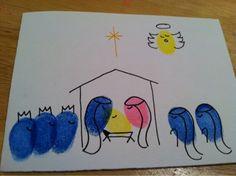 Dirt Don't Hurt: Fingerprint Nativity Cards