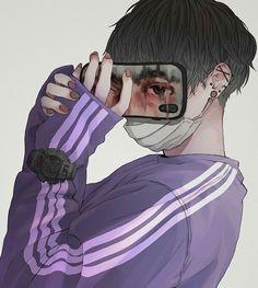Cool Anime Girl, Anime Art Girl, Anime Guys, Fly Drawing, Manga Drawing, Anime Hair, Cybergoth, Manga Boy, Handsome Anime
