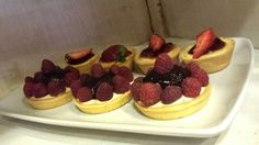 Tartaletas, mini cheesecake
