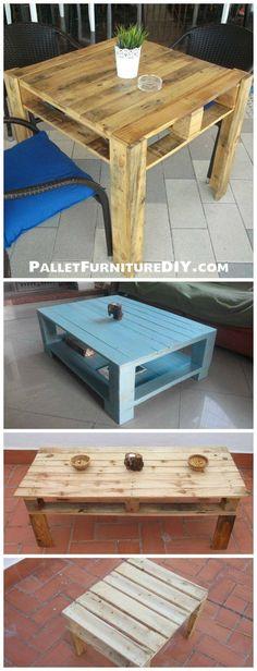 7 DIY Pallet Coffee Table Ideas