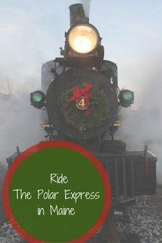 maine, trains, christmas, holidays, winter, travel, vacation, USA, new england
