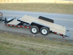 Our GVWR power tilts give you of deck width to load most any skid steer or small construction equipment. Tilt Trailer, Trailer Plans, Equipment Trailers, Steel Deck, Dump Trailers, Compact Tractors, Landscape Materials, Heavy Equipment, Welding