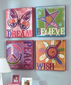 Textured Graffiti Canvases|The Lakeside Collection $6.95 each
