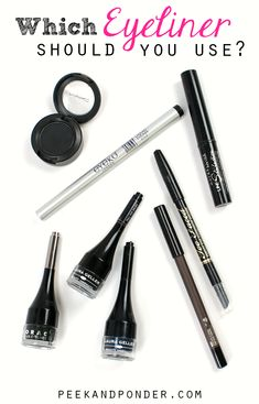 Eyeliner 101: The Basics -  What kind of eyeliner do you use? Do you know about the different types that are available and how they wear? I'm going to share 4 basic types of eyeliner . Many of you makeup lovers know all about this, but this guide is meant for the beginners (or the less makeup-savvy). Use this guide to determine what kind of eyeliner is right for you!