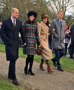 Christmas 2017, Duchess Catherine,  Prince William,  Prince Harry, and Meghan Markle