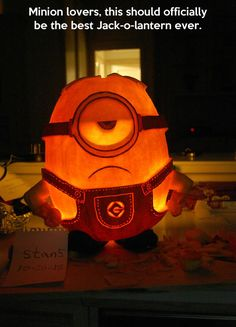 Minion pumpkin…