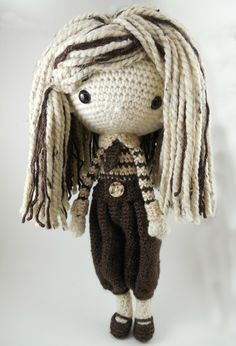 Luisa Amigurumi Doll Crochet Pattern PDF by CarmenRent on Etsy