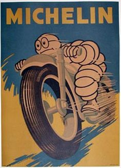 Michelin Man on a motorbike