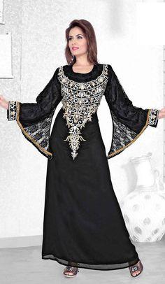 eab237df9162 Purple Color Faux Georgette Designer Arab Islamic Kaftan Readymade Dress  #Farasha #HeenaStyle #Islamic