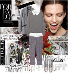 """Model Inspiration- Bette Franke"" by iloveyoudd ❤ liked on Polyvore"