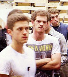 Can we talk about Alistair's face in this? (GIF) or maybe how incredibly gorgeous Aaron Tviet looks?!