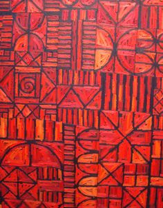Red African art