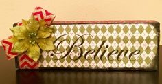 Believe-Stand Alone Sign by TheJRileyBoutique on Etsy