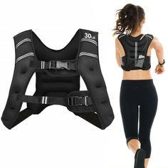 You can wear it when you climb the mountains, run or do sports. The weighted vest can help you lose weight, burn more calories, increase your power and build muscle. Besides, this weighted vest is made from 2.5mm Neoprene, filled with black iron sand. So you can feel comfortable when you exercise. In addition, it has reflective strip to ensure you safety in your night workout. What's more, there is an extra storage pocket in the back of the weighted vest, and you can store some small items… Weight Vest Workout, Workout Vest, Nice Body, Perfect Body, Sport Chic, Fitness Home, Cardio Fitness, Night Workout, Weighted Vest