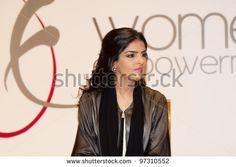 DUBAI - UAE - MARCH 10 2012: Her Highness Princess Ameerah Al Taweel wife of Prince Alwaleed bin Talal speaks at the Women Empowerment Group on March 10, 2012 in Atlantis Hotel in Dubai. - stock photo